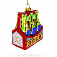 Beer Six Pack Glass Christmas Ornament