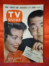 NO LABEL Oregon ed July 26 TV GUIDE 1958 MILLIONAIRE Marvin Miller Andy Griffith