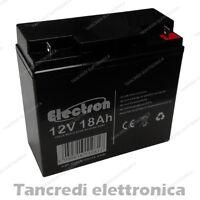 Batteria ermetica ricaricabile 12V Volt 18Ah al piombo UPS GRUPPI DI CONTINUITA'
