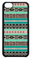 Aztec Tribal Geometric for iPhone 4 4s 5 5s 5c 6 Retro vintage Case Black