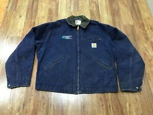 MENS 46 - Vtg Carhartt Duck Blanket Lined Work Detroit Jacket Made USA