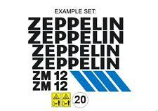 Sticker, aufkleber, decal - ZEPPELIN ZM 9, 10, 12, 13, 15, 19, 20, 70, 85, 100