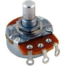"Alpha 8mm Bushing Potentiometer, 1M Log/Audio 1/4"" solid shaft solder tabs 1MA"