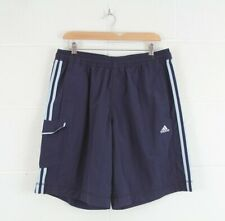 ADIDAS Navy Blue Casual Sports Nylon Track Shorts Size Men's Large W34 L20
