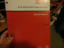Case Ih 8710 8720 8730 Forage Harvester Operator's Manual
