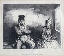 Honore Daumier France 1808 -1879  Lithograph En Chemin De Fer 1862