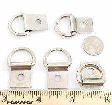 """Steel Dee Rings w Clip Nickel Silver Finish 5/8"""" 30 pcs"""