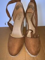Brash Women's Escape Brown Espadrille Wedge Heel Sandal Size 9