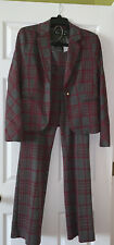 New York & Company 7th Avenue Gray/Burgundy Knit Pant Suit, Size M, NWT