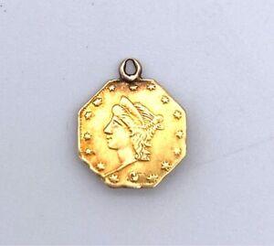 USA 1864-C RARE 1.4 DOLLAR CALIFORNIA GOLD RARE SHIELD VARIETY LIBERTY BUST