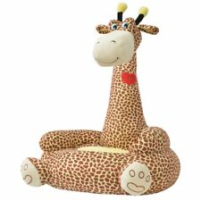 Vidaxl poltrona poltroncina in Peluche cameretta Bambini Bimbi Giraffa Marrone