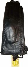 Woman's Leather Hip Winter Gloves worm Leather Gloves Guantes De piel BNWT