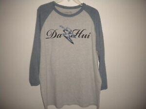 "Da Hui Size XL Gray Blue ""Da Hui"" Surfer Men's T-Shirt"