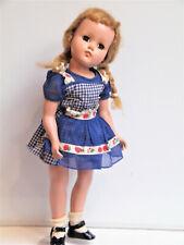 "Arranbee R&B Vtg 17"" Nanette Strung Hard Plastic Non Walker Doll Original dress"
