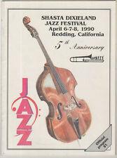 1990 Redding California 5th Shasta Dixieland Jazz Festival Souvenir Program