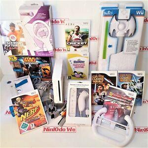 Nintendo Wii Console Boys Gift Bundle = NERF, STAR WARS, FERRARI RACING, GOLF+++