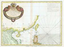 1771 Large Antique Map FORMOSA JAPAN KOREA INDO CHINA LAOS Canton Ningpo (BLM)