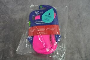 SEALSKINZ Unisex Waterproof All Weather Cycle Oversock Pink Large