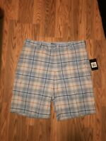 Nike Golf Shorts 38 NEW WITH TAGS Plaid