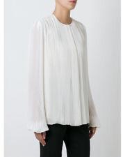 STUNNING NEW NWT NINA RICCI silk pleated blouse 8 40 natural silk $2535.00