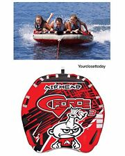 NEW 3 Person Rider Towable Inflatable Tube Float Raft Water Ski Boat Tubing Gift