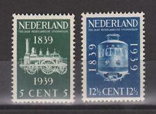 NVPH Netherlands Nederland 325- 326 MLH 1939 100 jaar Spoorwegen Pays Bas No Gum
