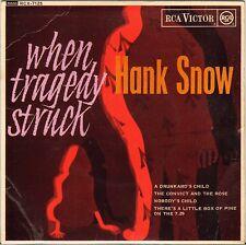 "HANK SNOW ""WHEN TRAGEDY STRUCK"" U.K. 1963 EP RCA VICTOR RCX 7125"
