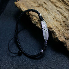 Man Anklets personality Feather Leather rope Anklets Korean Concise Accessories