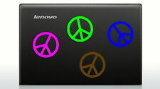 "Set of 4 Peace Sign Decal Stickers for car wall laptop notebook glass 3.5"" each"