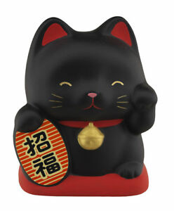 Salvadanaio Gatto Giapponese 10cm Ceramica Made IN Fortuna Maneki Neko 40648