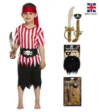 Boys PIRATE COSTUME Child Captain Hook Fancy Dress Book Week Deckhand Outfit UK