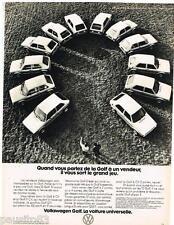 PUBLICITE ADVERTISING 095  1977  VOLKSWAGEN   les GOLF