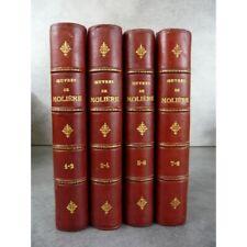 Molière Oeuvres de J.B. Poquelin Paris Delarue 1875 belle série complète. Reliur