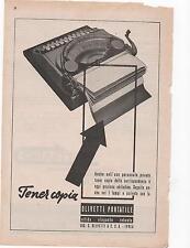 Pubblicità epoca 1923 OLIVETTI MACCHINA SCRIVERE advert werbung publicitè reklam