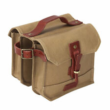 Tourbon Bike Double Panniers Tube Bag Frame Front Pouch Cycling Waterproof Brown