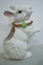 "Vintage Large Candy Dish Cookie Jar Rabbit Planter Figurine 12"" Long 8.5"" Tall"