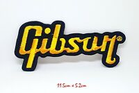 Gibson Guitar Logo Jacket T shirt Embroidered Sew/Iron on Patch applique #864