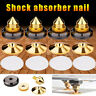 UK 4pcs Golden Speaker Spikes Isolation Stand Feet Cone Base Pads Shockproof Mat