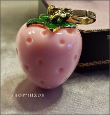 RARE JUICY COUTURE GOLD PINK STRAWBERRY CHARM HARD TO FIND FREE SHIPPING