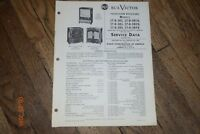 vintage 1953 rca victor television receivers manual 27d382 27d384u etc. etc.