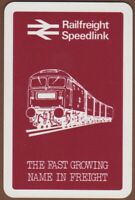 Playing Cards 1 Single Card Old RAILFREIGHT SPEEDLINK Train Freight Advertising
