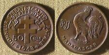 Madagascar : 1943SA  50 Ct  BU  #1    IR8001