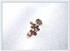 Splendido anello fiore di cristallo, ri-considerevole, strass, idea regalo, foglie, molto bello
