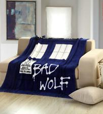 "Doctor Who Tardis Coral Velvet Sofa Throw Blanket Bad Wolf Christmas Gift 51*59"""