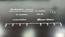 Serigrafie scritte kit restauro Technics SL 1200 MK2, SL 1210 MK2    bianco