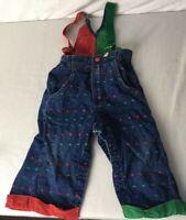Oshkosh B'Gosh Toddlers Bib Overalls  24 M 80s Boys Vintage Denim Vestbak Shapes