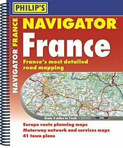 Philip's - Navigator France Road Maps A4 *FREE P&P*