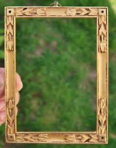 Antique Carved GOLD AESTHETIC FRAME, Art Nouveau - FOSTER BROS 4 x 5 1/2, Crafts