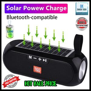 Solar Charging Bluetooth Speaker Outdoor Portable Wireless Stereo Music Box USB