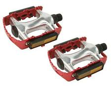 """ROAD MTB 940 Alloy Pedals 9/16""""  Red cruiser 9/16 pedal.fixie bicycle pedal"""